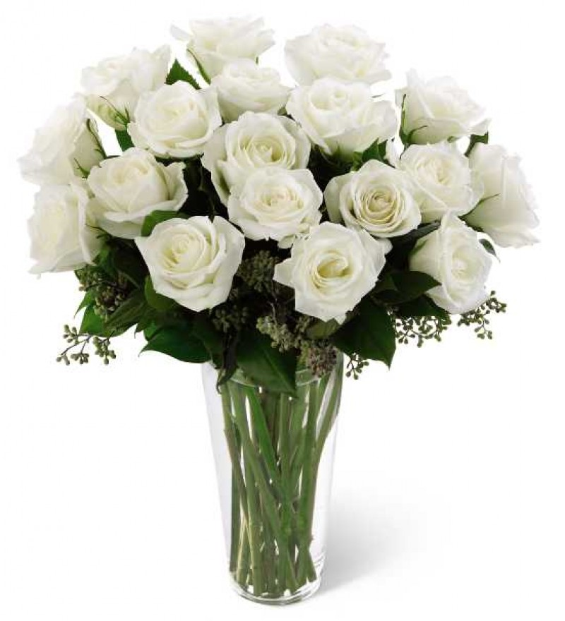 White Rose Flower Bouquet: The FTD White Rose Bouquet