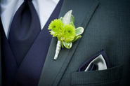 Bright Green Boutonnierre Sarnia Flowers