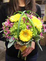 Wedding Bouquet with Yellow Gerbera