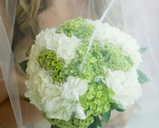 White Hydrangea and Celosia Brides Bouquet, Sarnia Flowers